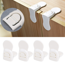 4Pcs Child Baby Guard Protection Care Drawer Cabinet Door Right Lock Safety Tool