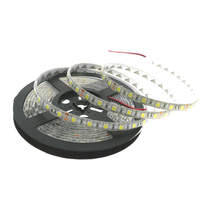 24V 5050 LED Strip 5M / Roll 300LED Vattentät LED Strip 5050, vit, - LED-belysning