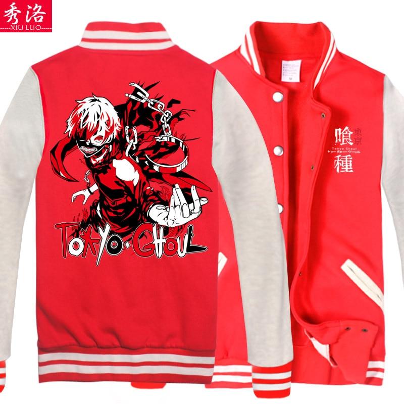 26cc272f10 Show luo tokyo tokyo ghoul ghoul trui cartoon ghost gold houten baseball  uniform grind animatie rond vest jas in Show luo tokyo tokyo ghoul ghoul  trui ...