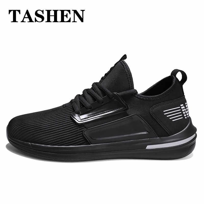 2019 Zapatillas de deporte de malla para Hombre, zapatos deportivos ligeros para Hombre, zapatos azules, Zapatillas deportivas para Hombre, talla grande 47