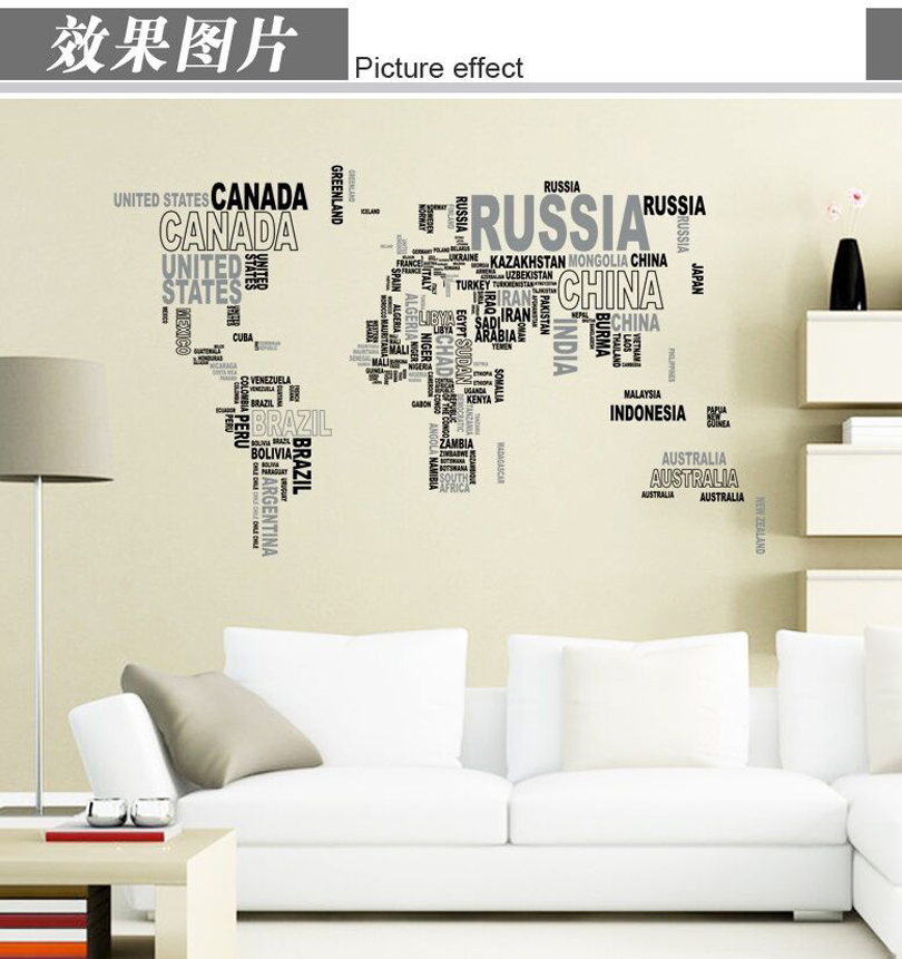 Wall paintings 3D three-dimensional wall stickers world map Sticker for home hotel room bathroom Decoration WX1591635