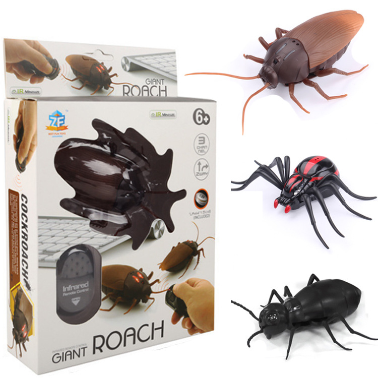 Remote Control Insect Toys Simulation Spider Ants Cockroaches Electric RC Toy Terrifying Halloween Gift For Adult Prank Insects