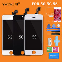 YWEWBJH Test AAA 20Pcs Lot LCD Assemblyfor IPhone 5 5C 5SLCD Screen Display With Touch Screen