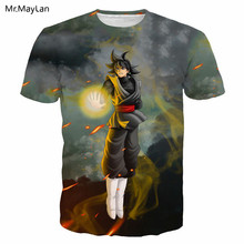 Harajuku Anime Dragon Ball Goku Print 3D Tshirt Women/Men Rock Punk Crewneck Tee T-shirt Tops Boys Casual Streetwear T shirt 5XL