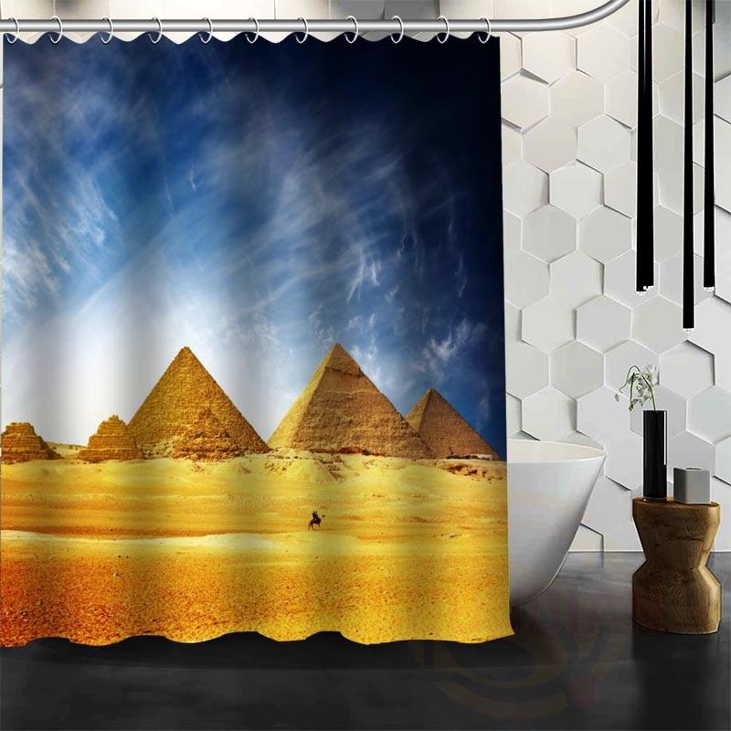 Best Nice Custom Ancient Egyptian Pyramids Shower Curtain ...