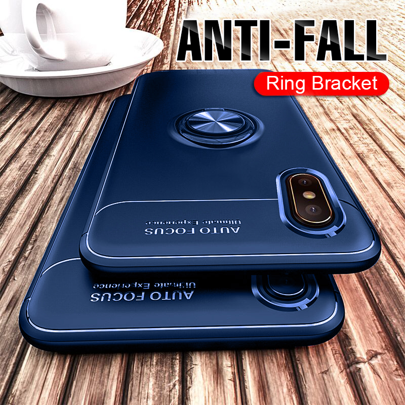 Luxury Magnetic Ring Soft Case On The For IPhone X XR XS Max 6 6s 7 8 Plus Phone Case XS Max 6 6s 7 8 Plus Shockproof Case Cover iphone xr case magnetic