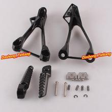 Aleación de aluminio Trasero de Pasajeros Estriberas Reposapiés Soportes para Kawasaki ZX6R 05-08 ZX636, motocicleta piezas de Repuesto Accesorios