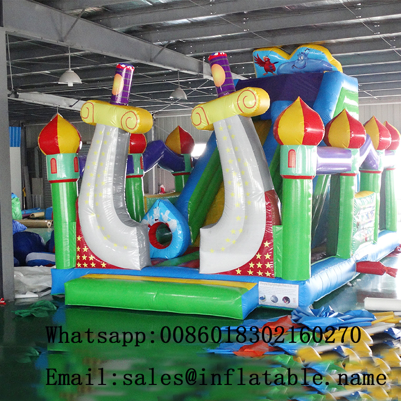 Inflatable slide bouncer combo dry slide fun city bouncy sliding for kids slide