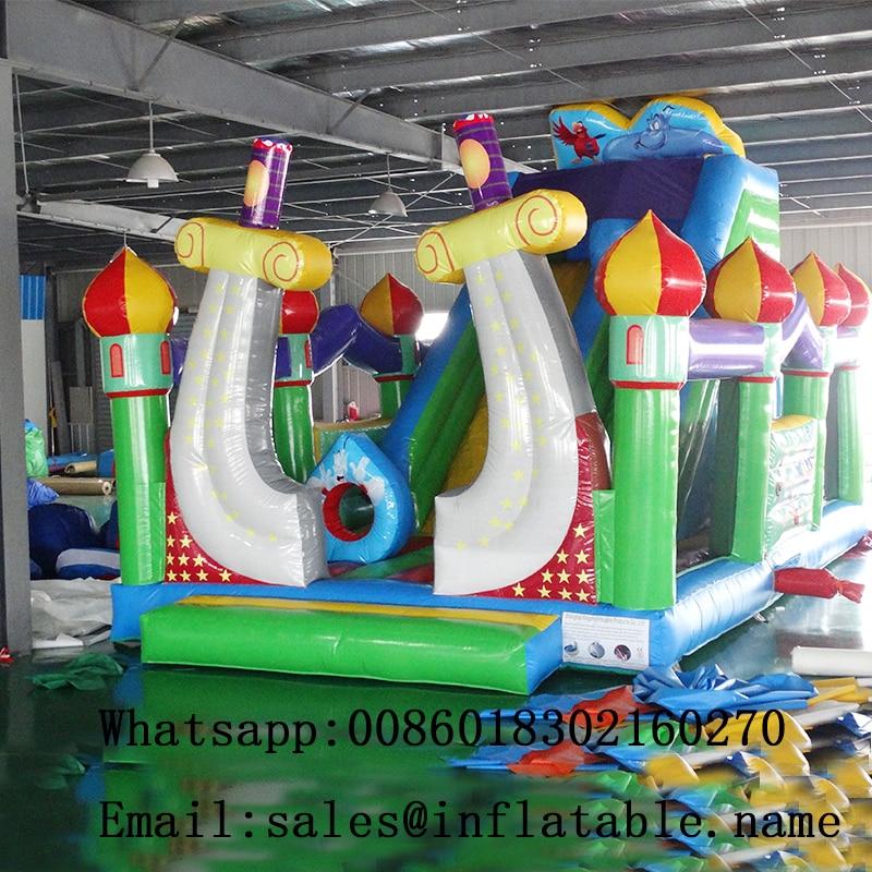 Tobogán inflable gorila combo seco tobogán ciudad inflable de para los niños de diapositivas