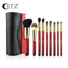 TZ Brand 9pcs Makeup Brushes Foundation Brush Set Concealer Eyeshadow Lip Brush Cosmetic Make up Brushes Set With Makeup Bag