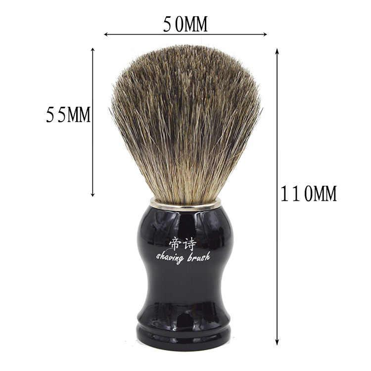Molhado Barbear dos homens Set/kit Escova Estande Gotejamento + Pure Badger Cabelo shaving Brush + Tigela Caneca mens produtos para barbear