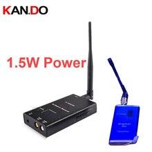 1 W 16ch wrieless AV transmissor zangão 0.9-1.3 Ghz FPV transmissão de imagem Sem Fio de Áudio e Vídeo Transmissor Receptor remetente
