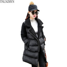 TNLNZHYN 2017 New Winter Fashion Women Coat   Thicken Warm Large size Cotton Jacket Coat Casual medium women winter coat AK357