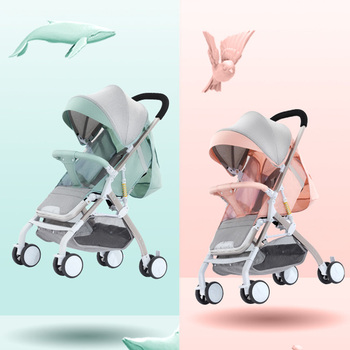 Fast shipping! Lightweight stroll portable travel Baby stroller can sit and lying folding baby high landscape stroller фото