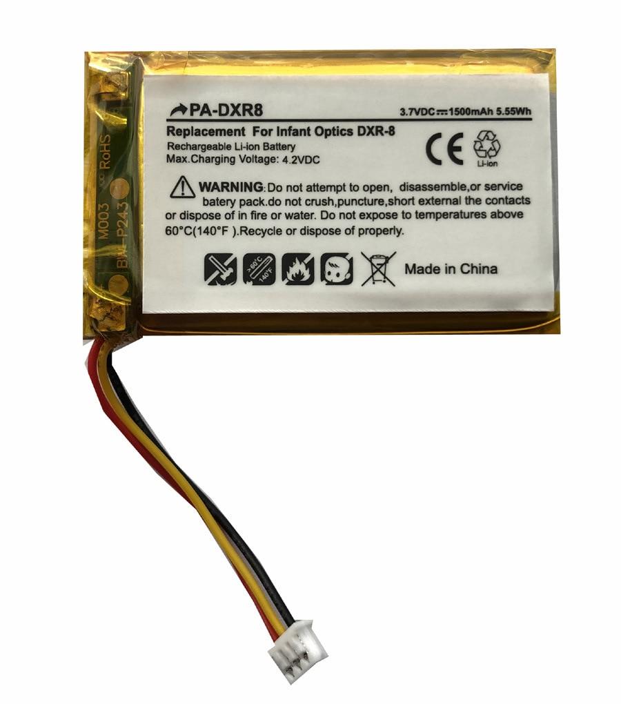 TTVXO 1500mAh Battery For  Infant Optics DXR-8,DXR8RLB,SP803048