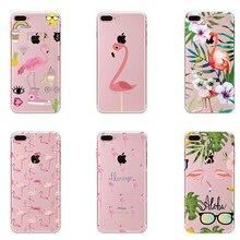 ФОТО phone cases summer flamingos love soft silicone clear case cover for apple iphone 7 7plus 6 6s 6plus 6splus 5s se coque fundas
