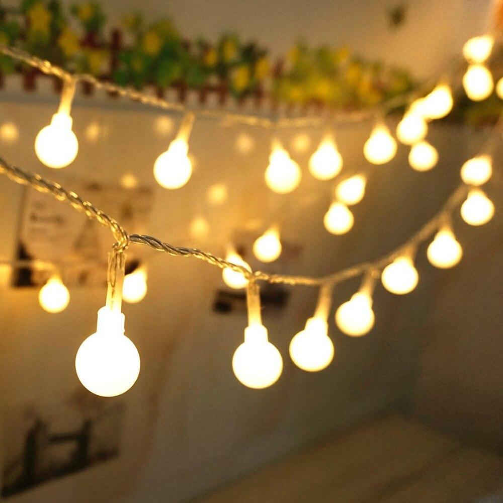 SXZM Palla 5 M 50led Batteria led string luce della decorazione per la festa di Natale Festa di nozze all'aperto