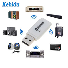 Kebidu Bluetooth 5.0 Mini USB Wireless Adapter Audio Stereo Receiver Car kit with microphone for compute Car player speaker New(China)