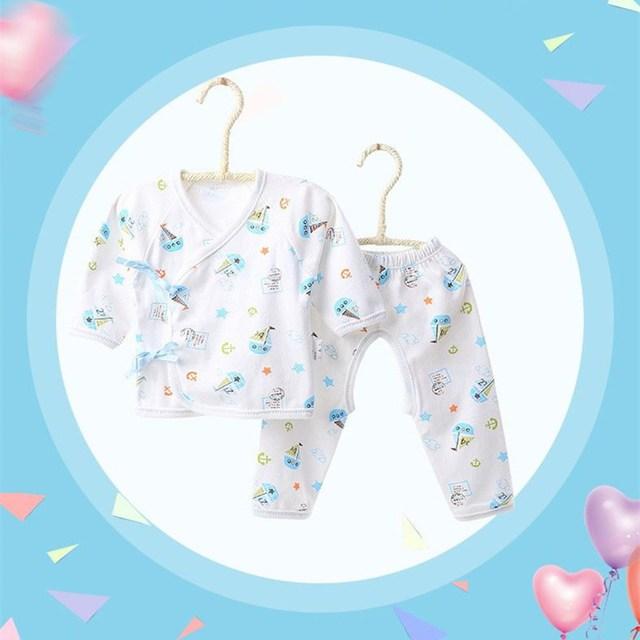 2 UNID Bebé Recién Nacido ropa de Dormir de Algodón Establecido Bebé Recién Nacido Ropa de Dormir Conjunto de Dibujos Animados Bebé Niño Niña Pijamas Del Bebé ropa de Dormir Ropa Interior trajes