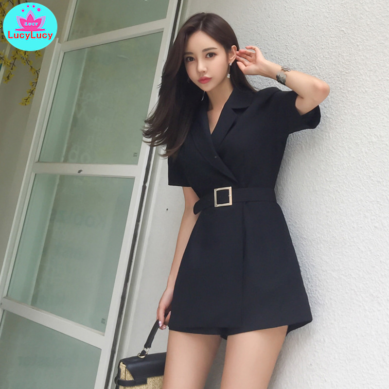 2019 summer new fashion waist linen material workmanship suit slimming shorts shorts women Sashes Solid Regular Casual in Rompers from Women 39 s Clothing