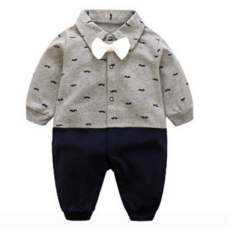 Boys Rompers Newborn Baby Clothes Gentleman Romper Jumpsuit Infant Long Sleeve Autumn Winter Wear Kids Clothing Set 4 Styles newborn rompers baby boy romper winter long sleeve cotton clothing toddler baby clothes jumpsuit warm cartoon baby boys pajamas