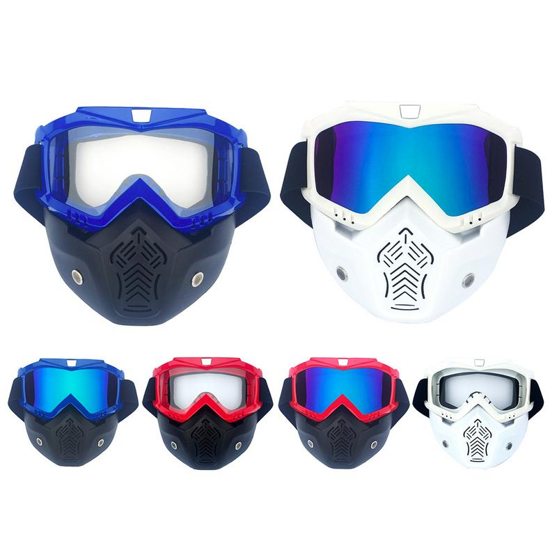 5681cc5ee1bf Men Women Ski Snowboard Snowmobile Goggles Snow Winter Windproof Skiing  Riding Glasses Motorcycle Sunglasses with Face Mask-in Skiing Eyewear from  Sports ...
