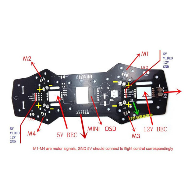 Diy integrated pdb board pcb plate for diy mini drone race diy integrated pdb board pcb plate for diy mini drone race quadcotper zmr250nighthawk 250 asfbconference2016 Images