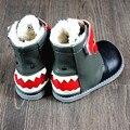 Zapatos de Bebé Mocasines de Cuero genuino con la piel del bebé bebé botas de invierno Primer Caminante zapatos inferiores Suaves 13-18 cm envío gratis