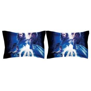 Avengers Twin Bedding Set   DIE Avengers Disney Marvel Thor Bett Abdeckung Jungen Schlafzimmer Dekoration Quee Größe Bettwäsche Set König Quilt Bettbezüge Kid Der Twin Blau