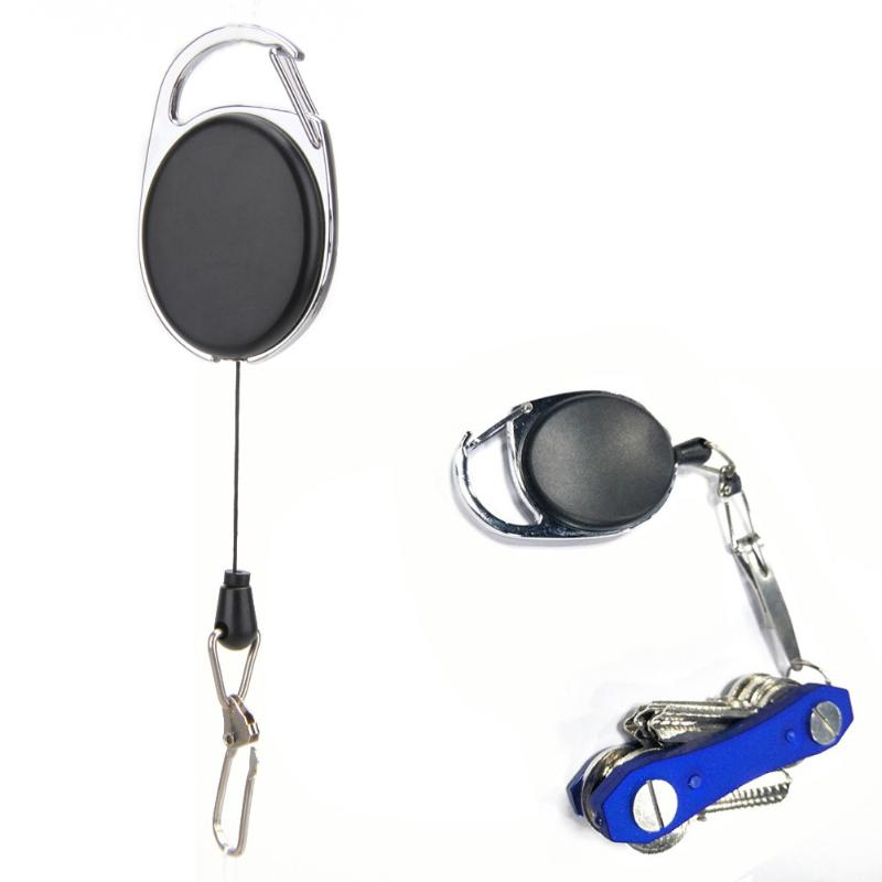 Outdoor Telescopic Wire Rope Key Burglar Keychain EDC Retractable Chain Return Key Ring Holder Camping Travel Anti-Theft Safety