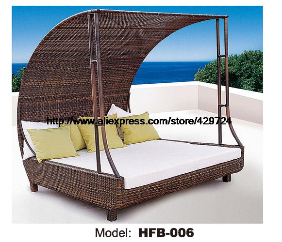 luxury rattan sofa bed with rattantent leisure beach sofa lying lounger outdoor party sofa. Black Bedroom Furniture Sets. Home Design Ideas