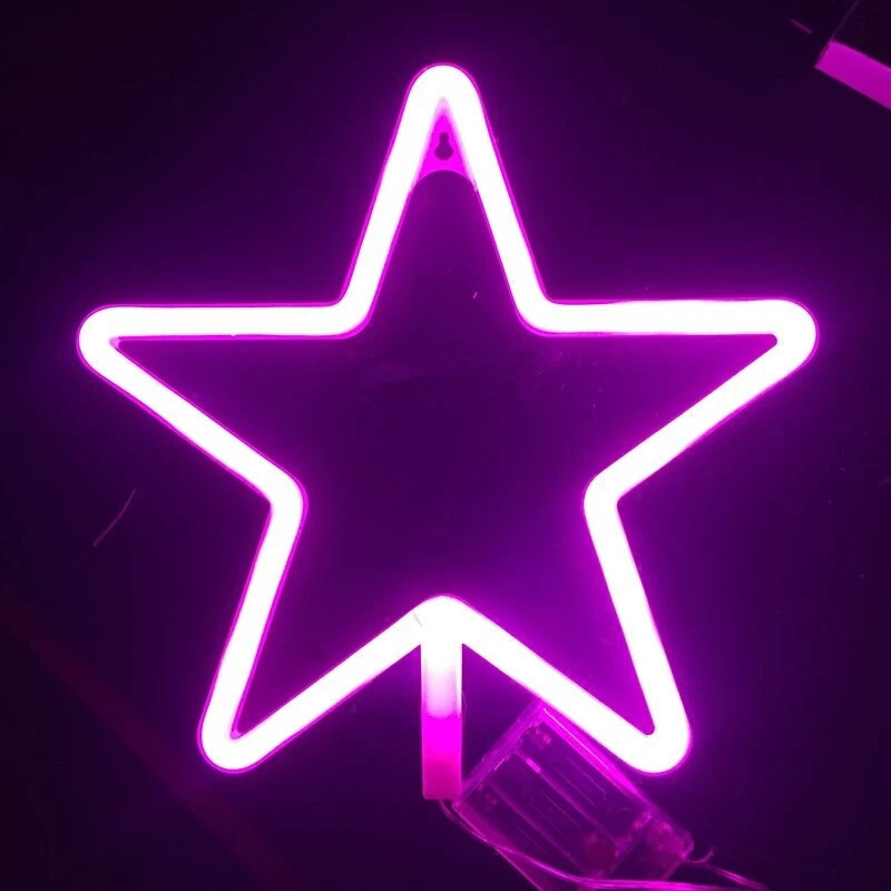 Amagle led neon sign star neon lamp battery usb powered wall light amagle led neon sign star neon lamp battery usb powered wall light room decor shop decoration photography prop night lamp in led night lights from lights aloadofball Image collections
