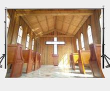 150x220cm Church Photography Backdrop Wooden House Wedding Lover Portrait Backdrops Studio Props