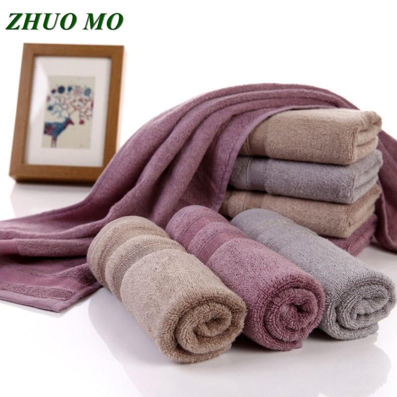 Zhuo mo 70*140 cm bambu fibra toalha de banho para adultos esporte banheiro viagem ao ar livre macio grosso alto absorvente antibacteriano