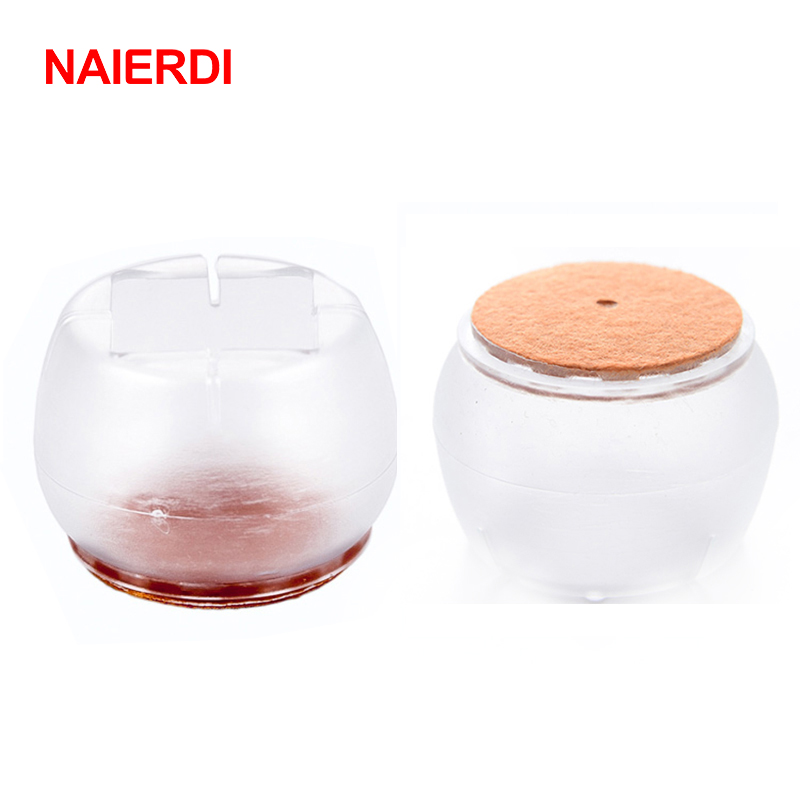 NAIERDI 16pcs Silicone Round Chair Leg Cups Feet Floor Protector Pads Furniture Non Slip Table Cover For Chairs Home Hardware