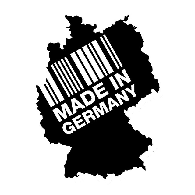 15cm20cm made in germany continent bar code fashion vinyl decals car sticker s6