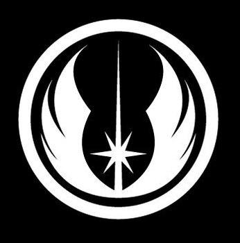 Star Wars Jedi Order Logo Vinyl Decal - White Window Car Sticker 5'' die cut stickers