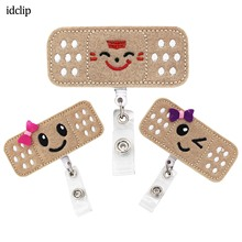 idclip Smile Face Nurses Badge Reel Holder clip Retractable ID with Alligator Clip