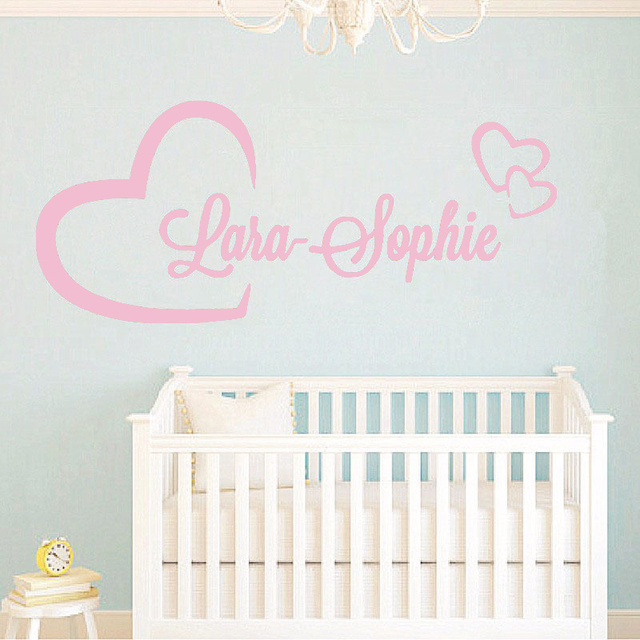 personlized name wall stickers for kids room custom girl boys name