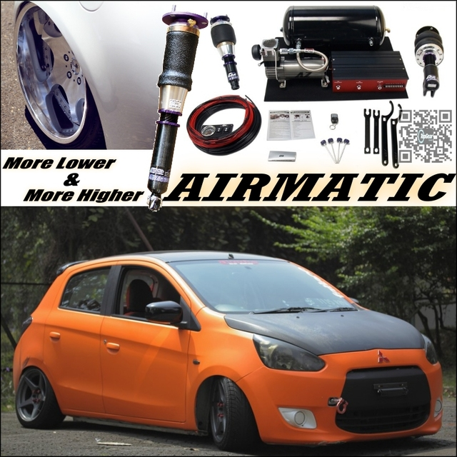 Mitsubishi Mirage 2017 Price >> Air Matic Height Adjustable Damper Suspension Hella Flush / VIP tuning System For Mitsubishi ...