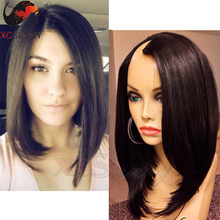 Top Quality Unprocessed Virgin Brazilian Human Hair Upart Wigs Short Bob Glueless U Part Human Hair Wigs Middle/ Side Part