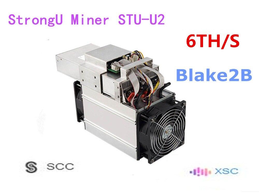 Utilisé Asic SCC XSC mineur StrongU mineur STU-U2 6TH/S avec PSU Blake2B mieux que Antminer A3 Innosilicon S11
