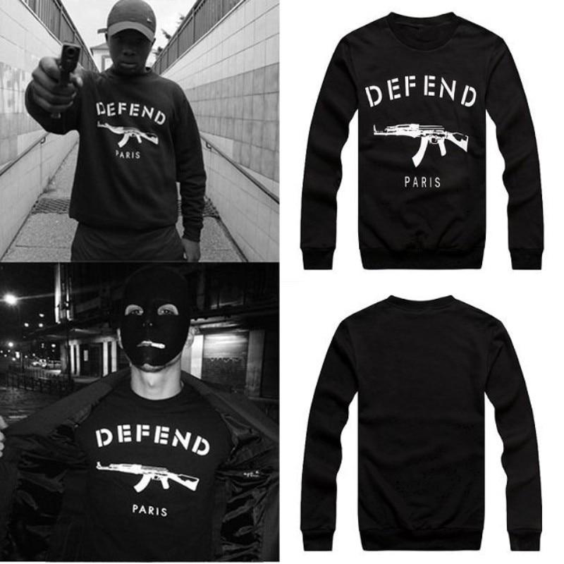 2015 NewFashion Men's Sweatshirt Defend Paris Print Long