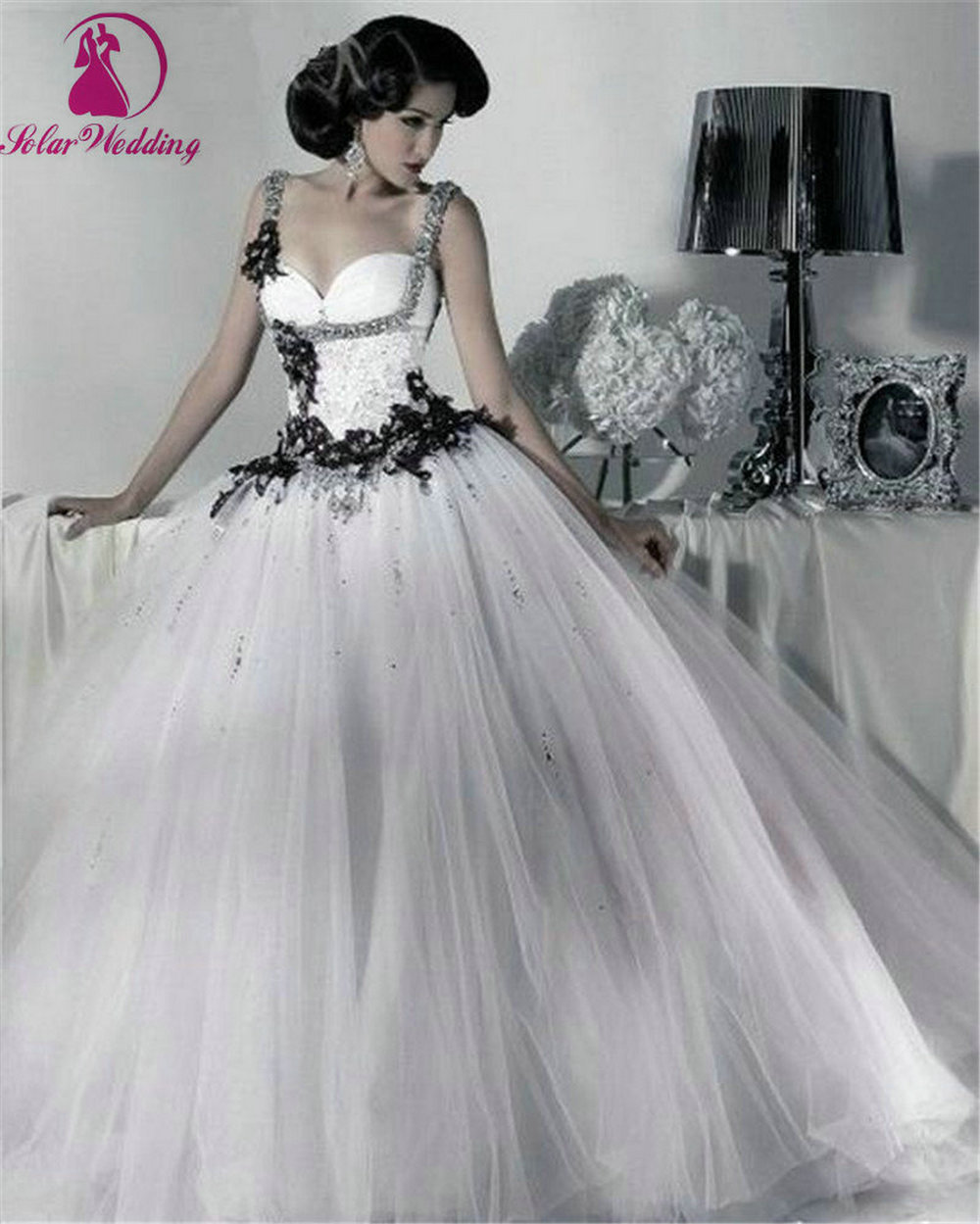 Popular Cheap Wedding Dress Black and White-Buy Cheap Cheap ...