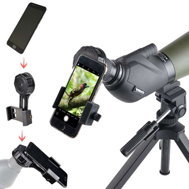 Telescope Holder for Phone,Universal Cell Phone Smartphone Quick Photography Adapter Mount Connector for Telescope Binoculars Monocular Spotting Scope Microscope