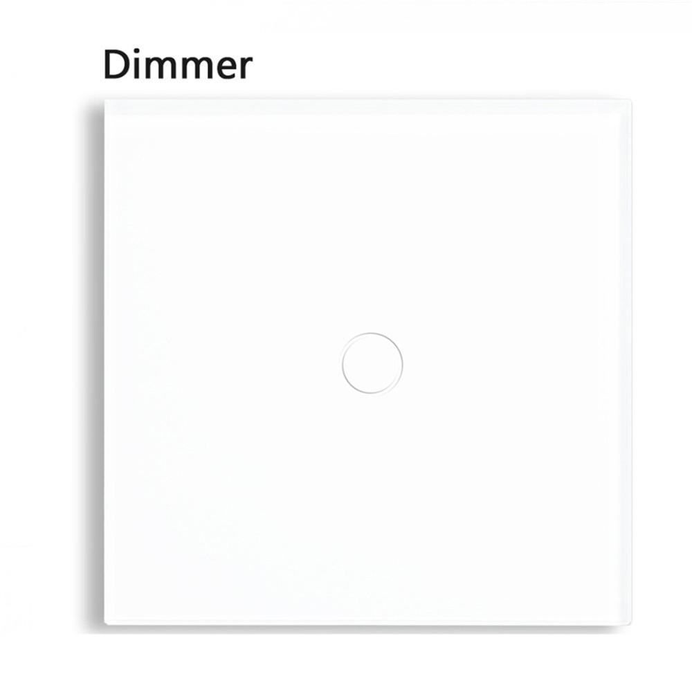 Bseed 240v Touch Dimmer Switch 1 Gang 1 Way Dimmable Switch With Glass Panel White Touch Switch Dimmer Eu Uk Us Au bseed 240v touch switch 1 to 3 gang touch switch dimming led with glass panel white black gold dimmer switch us au eu uk