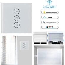 Interruptor de cortina táctil Wifi interruptor de pared control de voz por Alexa/Google control de teléfono para motor de cortina eléctrica hogar inteligente UE/EE. UU.