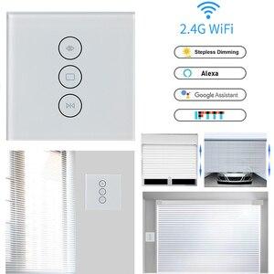 Image 1 - Wifi タッチカーテンスイッチ壁スイッチ音声制御による Alexa/Google の電話制御電動カーテンモータースマートホーム EU/米国