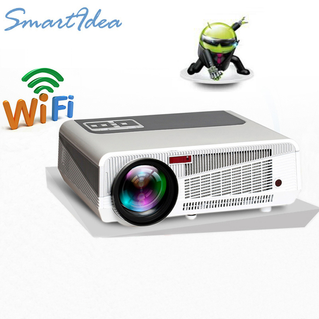 SmartIdea 5500lumen Android4.4 HD LED Wifi Smart Projector 230W 3D home theater LCD Video Proyector TV Beamer with Bluetooth 4.0