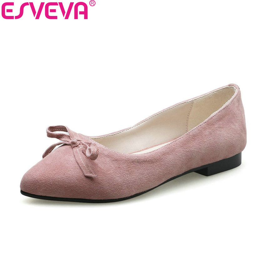 ESVEVA 2018 Women Pumps Spring and Autumn Shoes Low Heels Elegant Pointed Toe Square Heels Casual Shallow Women Shoes Size 34-39 women shoes pumps spring 2017 thick low heels autumn elegant slip on pointed toe casual shoes ladies office wear big size 41 42